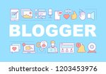 blogger word concepts banner.... | Shutterstock .eps vector #1203453976