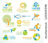 set of vector nature icons | Shutterstock .eps vector #120345598