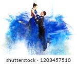 Pair Of Dancers Dancing...