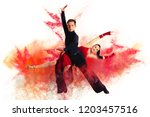 pair of dancers dancing... | Shutterstock . vector #1203457516