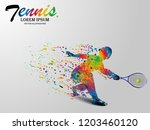 visual drawing tennis sport and ... | Shutterstock .eps vector #1203460120