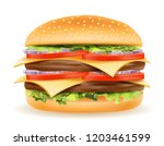classic hamburger with meat... | Shutterstock .eps vector #1203461599