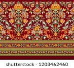 seamless traditional indian... | Shutterstock . vector #1203462460