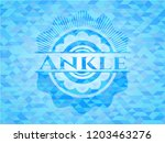 ankle realistic light blue... | Shutterstock .eps vector #1203463276