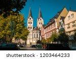 boppard germany middle rhine... | Shutterstock . vector #1203464233