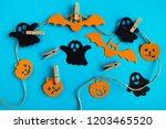 preparation for halloween.... | Shutterstock . vector #1203465520