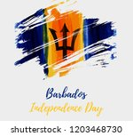 barbados independence day.... | Shutterstock .eps vector #1203468730