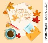 autumn composition. paper blank ...   Shutterstock .eps vector #1203472660