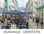 lisbon  portugal   october 10 ... | Shutterstock . vector #1203473746