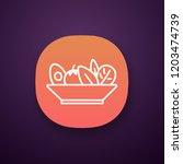 salad app icon. ui ux user...