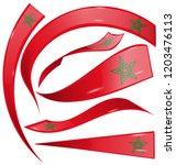 marocco flag set isolated on...   Shutterstock .eps vector #1203476113