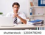 young handsome businessman...   Shutterstock . vector #1203478240