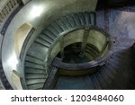 top view of spiral marble... | Shutterstock . vector #1203484060