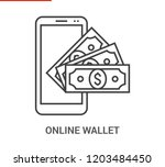 online wallet icon. thin line... | Shutterstock . vector #1203484450