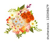 floral arrangement | Shutterstock .eps vector #120348679