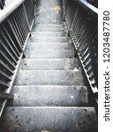 ladder overpass down | Shutterstock . vector #1203487780