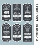 set of vintage bottle label... | Shutterstock .eps vector #1203488656