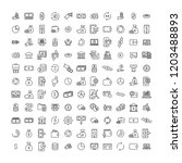 set of money thin line icons.... | Shutterstock .eps vector #1203488893