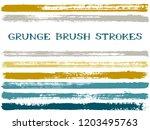 ink brush strokes isolated...   Shutterstock .eps vector #1203495763