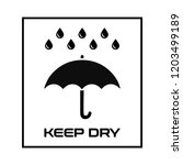 keep dry icon | Shutterstock .eps vector #1203499189