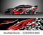 racing car wrap design vector.... | Shutterstock .eps vector #1203501460