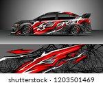 racing car wrap design vector.... | Shutterstock .eps vector #1203501469