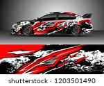 racing car wrap design vector.... | Shutterstock .eps vector #1203501490