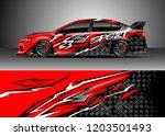 racing car wrap design vector.... | Shutterstock .eps vector #1203501493