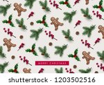decorative christmas background ... | Shutterstock .eps vector #1203502516
