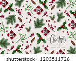 christmas greeting card... | Shutterstock .eps vector #1203511726