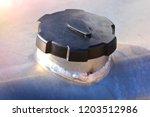fuel cap of a truck fuel tank... | Shutterstock . vector #1203512986