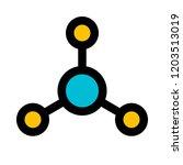 atomic orbital structure   Shutterstock .eps vector #1203513019