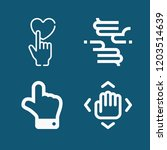set of 4 gestures outline icons ... | Shutterstock .eps vector #1203514639