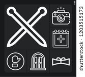 set of 6 frame outline icons... | Shutterstock .eps vector #1203515173
