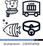 set of 4 animals outline icons... | Shutterstock .eps vector #1203518506