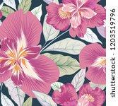 floral seamless pattern. ... | Shutterstock .eps vector #1203519796