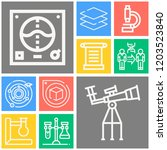 simple set of  10 outline icons ... | Shutterstock .eps vector #1203523840