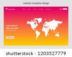 website template design vector. ...