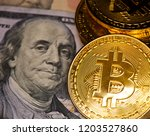 bitcoins  cryptocurrency  and... | Shutterstock . vector #1203527860