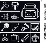 set of 13 handle outline icons...   Shutterstock .eps vector #1203528406