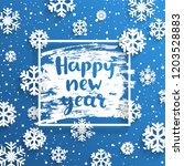 happy new year greeting card... | Shutterstock .eps vector #1203528883