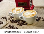 picture of coffee cups in front ...   Shutterstock . vector #120354514