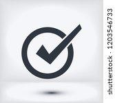 confirm icon  stock vector...   Shutterstock .eps vector #1203546733