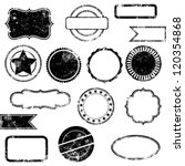 Vector Set of Distressed Stamps