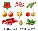 merry christmas winter holiday... | Shutterstock .eps vector #1203552469