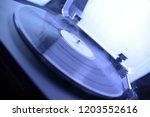 turntable vinyl record player... | Shutterstock . vector #1203552616