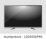 black led tv television screen... | Shutterstock .eps vector #1203556990