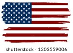 vector ditry american flag... | Shutterstock .eps vector #1203559006