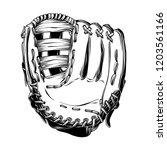 hand drawn sketch of baseball...   Shutterstock .eps vector #1203561166
