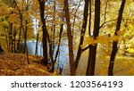 nice autumn landscape with... | Shutterstock . vector #1203564193
